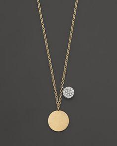 Yellow Gold/Diamond Disc Necklace, Happy Birthday to me : ) Jewelry Box, Jewelery, Jewelry Watches, Jewelry Necklaces, Fine Jewelry, Women Jewelry, Jewelry Making, Disc Necklace, Gold Necklace