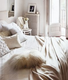 Love this all white bedroom
