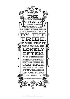 The individual has always had to struggle ... - Quote by German philosopher, poet, composer, cultural critic + classical philologist Friedrich Nietzsche (1844-1900) #friedrichnietzsche