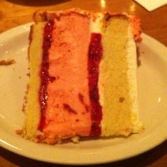 MY FAVE!!! I NEED THIS RECIPE!!! -Strawberry short cake cheese cake from Juniors NYC Times Square