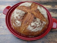 Emil Henry Bread cloche teszt - Natur Projekt Bread Cloche, Emile Henry, Thing 1, Minion, Sugar, Breakfast, Food, Morning Coffee, Essen