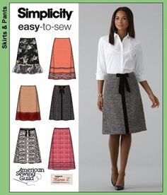 Simplicity 4036 Misses Skirts - Recommended by PatternReview.com