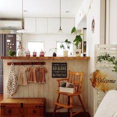キッチンカウンター/DIY/handmade/キッチンのインテリア実例 - 2014-09-09 12:58:29 | RoomClip(ルームクリップ)