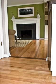 Room Transition From Light Gray Floor To Wood