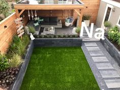 Jardin - Hasendrahthut schöne Deko im Garten - Conception de jardin d& Conception de jardins extérieurs, Conception d& - Back Garden Design, Modern Garden Design, Landscape Design, Modern Design, Small Back Garden Ideas, Modern Patio, New Build Garden Ideas, Small Back Gardens, Front Design
