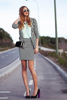 www.madewithfashion.com: BLACK & WHITE STRIPED SUIT