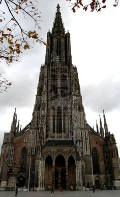 Ulm Church, Germany. The largest Lutheran church and the second largest church in Germany.