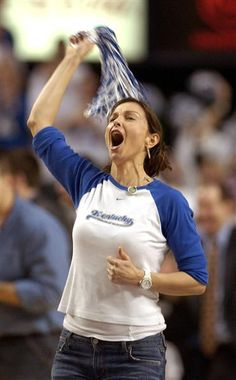 It's March Madness - UK fan Ashley Judd - Go Cats.