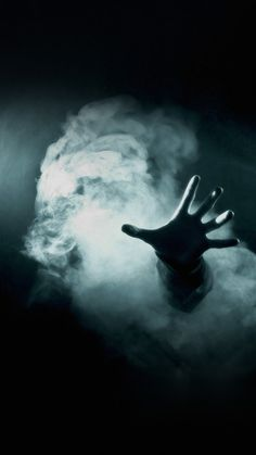 Hand Reaching Out From Smoke Horror Android Wallpaper