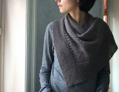 Textured Shawl By Orlane - Free Knitted Pattern - (ravelry) Shawl Patterns, Knitting Patterns Free, Free Knitting, Free Pattern, Crochet Patterns, Knit Cowl, Knitted Shawls, Knit Or Crochet, Crochet Shawl