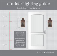 Exterior Wall Light Height : 1000+ ideas about Outdoor Light Fixtures on Pinterest Bungalow Porch, Outdoor Wall Lighting ...