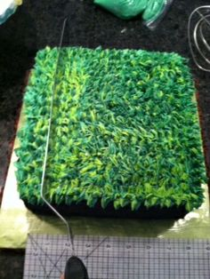 Edge Desserts: Minecraft Cake - It's Easier than you might think:)
