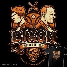 """Dixon Brothers Exterminators"" by WinterArtwork and Drawsgood For all your walker extermination needs!"