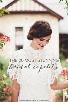 The 20 Most Stunning Bridal Capelets | Bridal Musings Wedding Blog