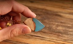 Gorgeous Leaf shaped wooden pendant nature pendant by ForestFuzz