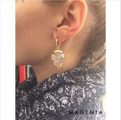 ad1e2115b8a8 Magenta Joyería · Chapa y oro laminado · New earrings ✨        Recién  saliditos del horno! Arracada de 22k chapa de oro con