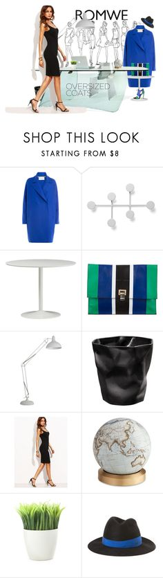 """A day in ROMWE Office"" by cinderella-slipper ❤ liked on Polyvore featuring Harris Wharf London, Menu, Proenza Schouler, Bellerby & Co, Kikkerland and Maison Michel"