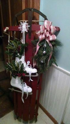 christmas sled cowboy christmas christmas jesus diy christmas ornaments christmas stuff - Vintage Sled Christmas Decoration