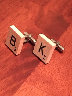 Custom Scrabble Piece Cuff Links Made to Order by JCiroDesigns