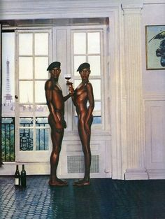 Grace Jones and her brother
