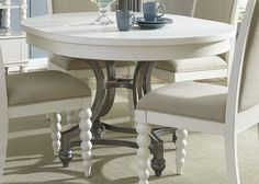 Buy Liberty Furniture Harbor View II 54x42 Oval Dining Table in White on sale online