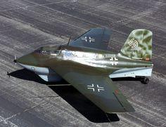 The Messerschmitt Me 163 Komet, designed by Alexander Lippisch, was a German rocket-powered fighter aircraft. It is the only rocket-powered fighter aircraft ever to have been operational.