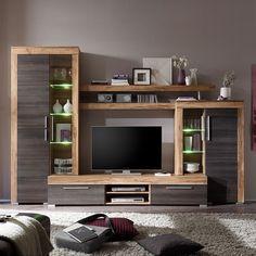 Ensemble de meubles TV Bang (4 éléments) - Imitation noyer / Marron