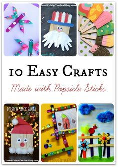 10 Easy Popsicle Stick Crafts