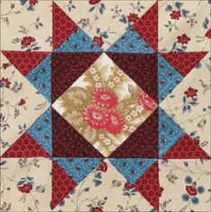 Civil War Quilts:Missouri Star b.ock by Becky Brown.