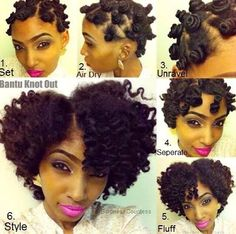 If I could contain myself from taking the scissors to my head, this could be me! Very pretty Bantu Knot out. Be Natural, Natural Hair Tips, Natural Hair Journey, Natural Hair Styles, Going Natural, Natural Curls, Natural Beauty, Bantu Knot Out, Natural Hair Inspiration