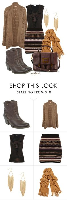 """Brown Fall Outfit"" by natihasi ❤ liked on Polyvore featuring Barratts, Miss Selfridge, Kaliko, Star by Julien Macdonald, Acne Studios and Marc by Marc Jacobs"