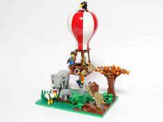 Explorers in Trouble Lego Zoo, Vignettes, Snow Globes, Explore, Decor, Decoration, Decorating, Deco, Exploring