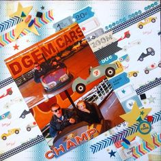 Dodgem Cars page created by Leonie with Crate Paper Boys Rule collection for My Scrappin' Shop.
