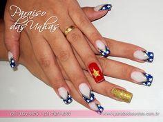 Fotos de unhas decoradas dos Mulher Maravilha Super Heróis (nail art) - Ana Paula Villar