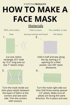 Here's how to make your own face mask!