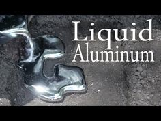 Want an effective, although low tech approach to melting aluminum? Than you are in luck, since this video shows how you can melt aluminum using only the most basic tools. Tin Can Crafts, Metal Crafts, Metal Projects, Welding Projects, Aluminum Cans, Aluminum Table, Melting Metal, Metal Embossing, Forging Metal
