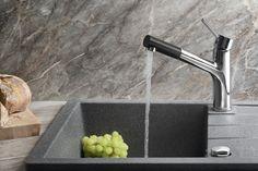 TUKA stojánková dřezová baterie s výsuvnou hubicí, chrom : SAPHO E-shop Water Faucet, Faucets, Sink, Kitchen, Design, Home Decor, Taps, Sink Tops, Griffins