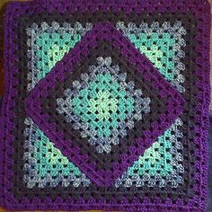 Squared Diamond - crochet baby blanket