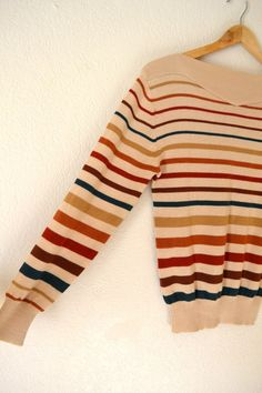 Vtg 70s Striped Sweatshirt by standswithafist on Etsy