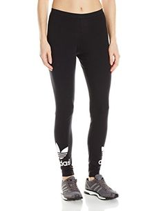 910061650ef94 adidas Originals Women's Trefoil Leggings, Medium, Black: At adidas,  everything we do is bound by one simple thought: we strive to help you  perform at your ...