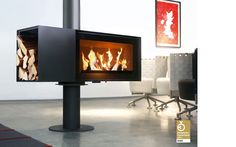 turning fireplace from Skantherm