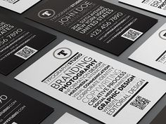 Typography Studio Business Card by Lemongraphic