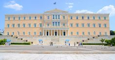 The Greek Parliament and the Tomb of the Unknown Soldier Unknown Soldier, Modern History, Travelogue, Walking Tour, Athens, Greece, Louvre, Mansions, House Styles
