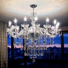 #crystal #chandelier Lustre de Cristal Asfour                                                                                                                                                     Mais