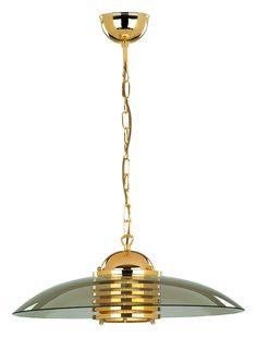 Lampa wisząca zwis Alfa Astra 1x60W E27 złota/grafitowa 00149.00