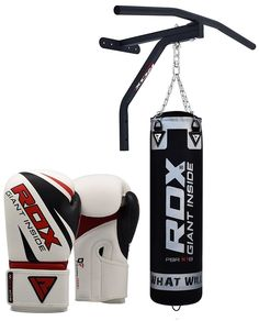 Boxing Personalised Retro Shoulder School Bag punch bag boots shorts ropes rope