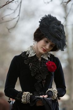 """Jessica Chastain in """"Crimson Peak"""" (2015). Set in 1887, costume design is by Kate Hawley."""