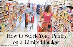 Is your budget really strapped right now? Here are four tips to help you still be able to stock your pantry a little bit at a time!