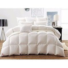 ba75a66562 White Goose Down Comforter Duvet with Baffle Box Construction Down  Comforter Bedding