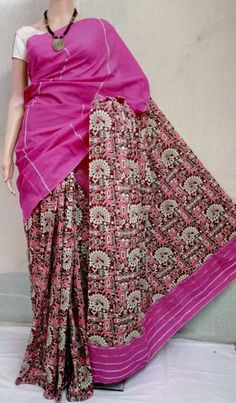 Elegant Fashion Wear Explore the trendy fashion wear by different stores from India Latest Saree Blouse, Latest Sarees, Elegant Fashion Wear, Trendy Fashion, Kalamkari Dresses, Beautiful Saree, City Style, Cotton Saree, Printed Blouse